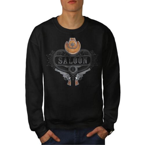 Sweatshirt Saloon Western Black New Men Usa gqBfnqvS