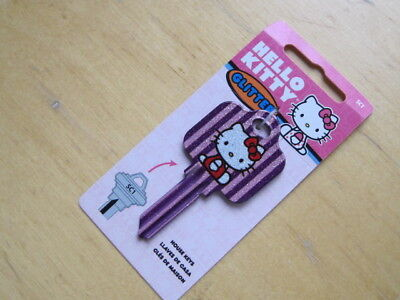 SC1 HOUSE KEY BLANK HELLO KITTY AND GLITTER  for SCHLAGE lock Made in The USA