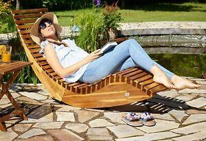 Sole in Legno Lettino Sole GIARDINO ESTERNI ALTALENA LETTO NUOVO ergonomico a dondolo Sedia a sdraio