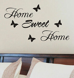 Image Is Loading Home Sweet Home Wall Sticker Quote Vinyl Wall