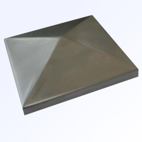 10x Pfostendeckel Abdeckkappe Zierkappe Metall QR40