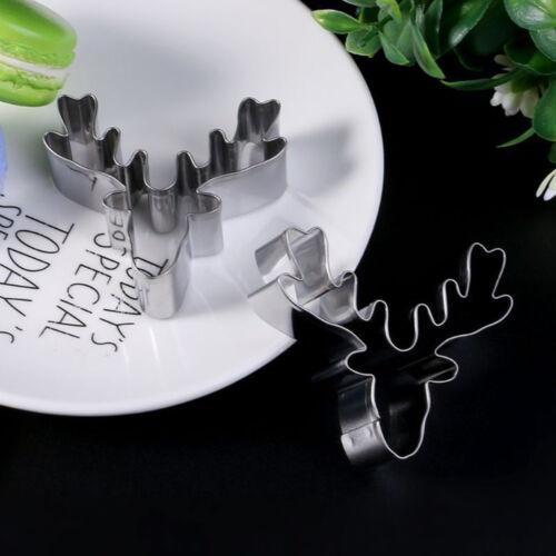 Edelstahl Ausstecher Keksform Weihnachten Hirschkopf Rentierform