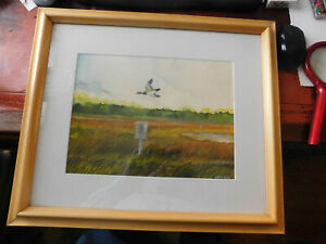 WATERCOLOR-of-CANADA-GOOSE-IN-FLIGHT-by-HARRY-ROSS-maine