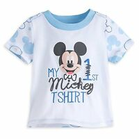 Disney Store My First Mickey Mouse Baby T Shirt Tee Size 0 3 6 9 12 Months