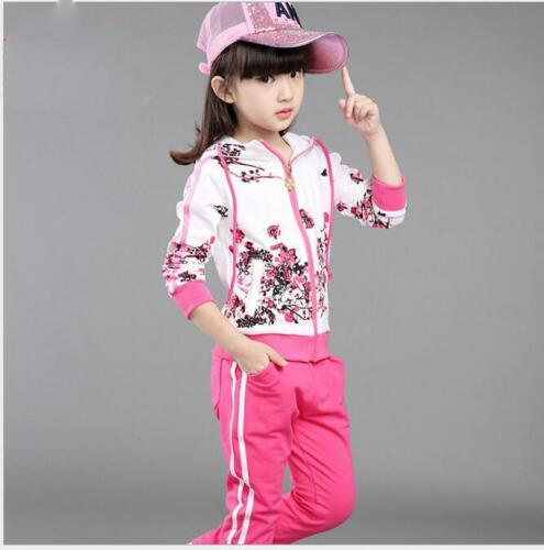 Kids Clothing Baby Girls Clothes Jacket Pants Girl Tracksuit Sport Suit Size 3-9