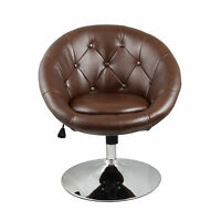 Living Room Brown Accent Chair Office Round Back Modern Furniture Bar Kitchen on sale