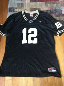 innovative design b1a21 20af4 Details about Nike Youth XL Purdue Boilermakers #12 Football Jersey Black