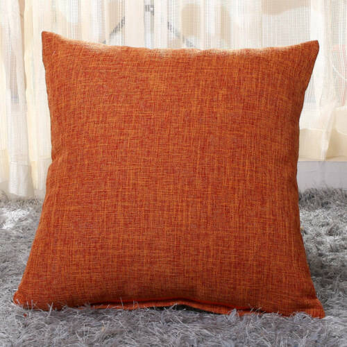 "Large Plain Linen Cushion Cover Pillow Cases Home Sofa Decor 16/"" 18/"" 20/"" 22/"" New"