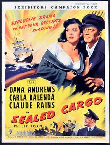 Sealed Cargo 1951 Dana Andrews Carla Balenda Claude Rains Uk