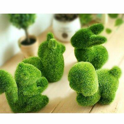 1 X Artificial Fake Turf Moss Grass Plant Animal Foam Fuzzy Home Decor Green New