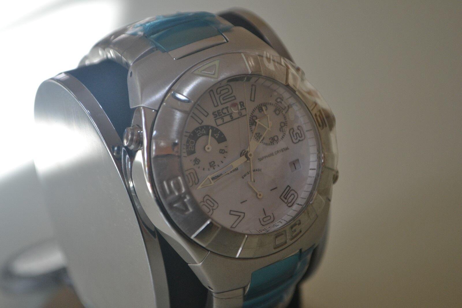 Alarma 750 Crono Zafiro Hombre Vintage Sector Reloj Cristal fgYy6b7v