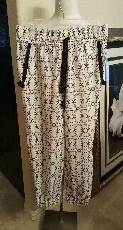 J CREW Women's Drapey Drawstring Pant Geo Print  Retail  148  - Size 4