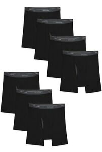 Fruit of the Loom Men's Coolzone Boxer Briefs Black, Size Medium