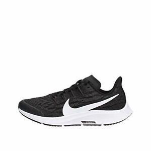 Nike-Air-Zoom-Pegasus-36-gs-Unisex-Big-Black-White-thunder-Grey-Size-2-0-7qw