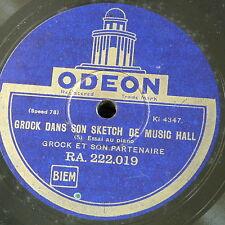 78rpm GROCK dans son sketch de music hall , sides 5&6