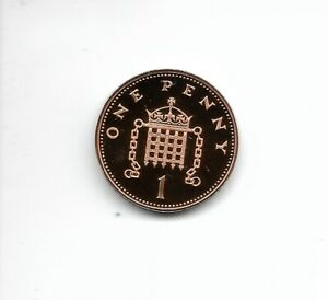 1999 Proof 1p One pence Royal Mint Proof 1p from a Royal Mint Proof Set.