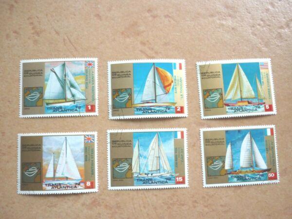 Bon CœUr GuinÉe Équatoriale 10 Marques Gest. Voiles Et Cyclisme 1973 (2 Photos)-ea 10 Marken Gest. Segeln Und Radsport 1973 (2 Fotos)
