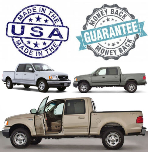 2003 Ford F-150 Lariat SuperCrew Driver Side LEAN BACK Leather Seat Cover Tan