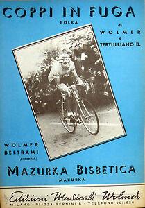 SPARTITO-COPPI-IN-FUGA-MAZURKA-BISBETICA-WOLMER-TERTULLIANO-ITALY-1952