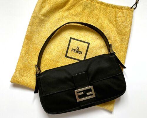 FENDI Baguette Shoulder Bag | Authentic Fendi Blac