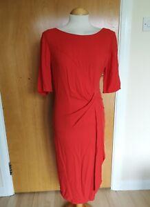 Ladies-PER-UNA-Orange-Dress-Size-12-Party-Evening-Wedding-Races