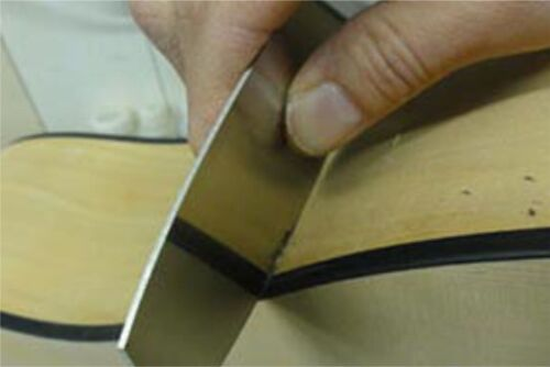 """Japanese Curved Card Scraper 1mm thick .042/"""""""