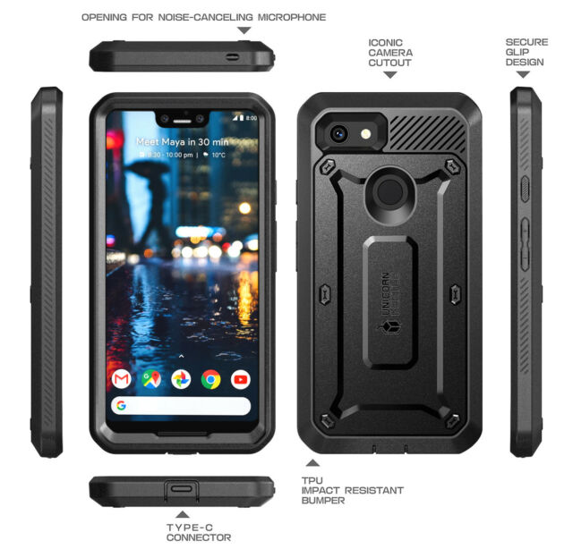 wholesale dealer 1c18f 80dc7 Google Pixel 3 XL Case SUPCASE Full-body Rugged Holster Case With Built-in  Scre
