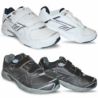 New Kids Boys Girls Hi-tec Leather Back To School Shoes PE Velcro Trainers Size
