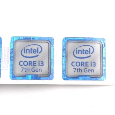 20x  NEW for inter CORE i7 7th Gen 18*18mm Sticker Badge Label for laptop ST050