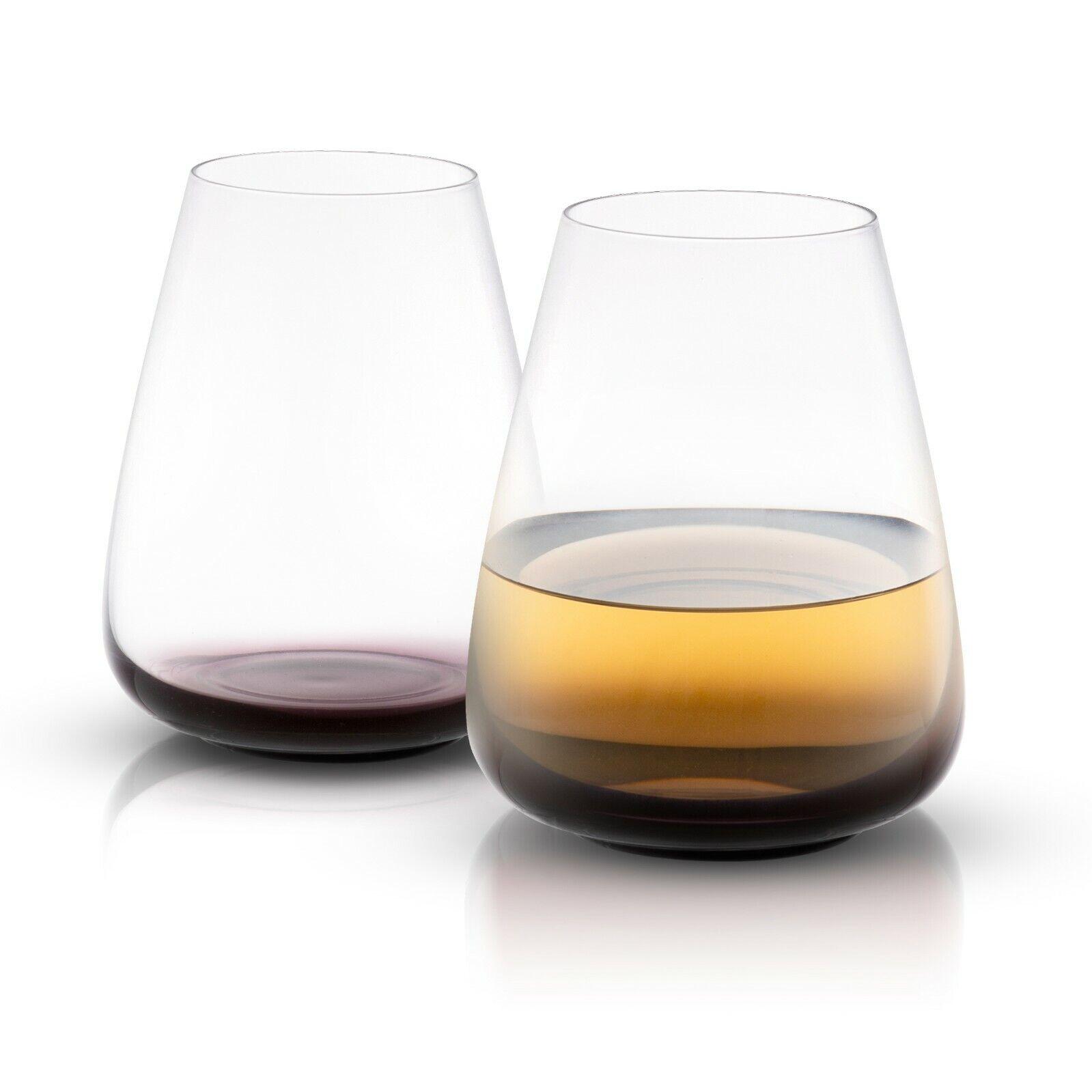 Joyjolt Cygne Noir Sans Pied Blanc Verres à vin, 23.1 OZ (environ 654.86 g) Set de 4