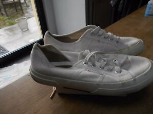 CLASSIQUES baskets SUPERGA T 37 TBE BLANCHES 15 ACH IMM FP RED MOND RELAY AFFA