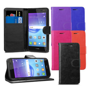 Pour-Huawei-Y6-2017-Y5-2017-Premium-Portefeuille-En-Cuir-Flip-Case-Cover-ecran