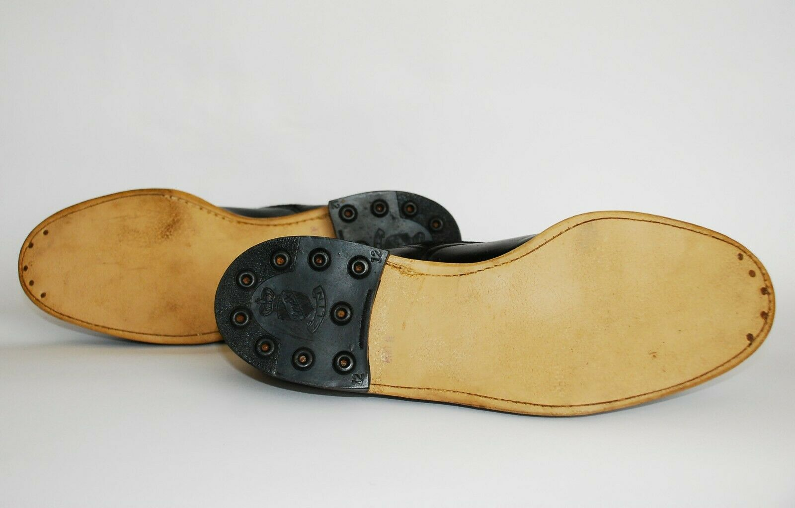 STUNNING PAIR OF ORIGINAL 1930S BLACK LEATHER AND… - image 10