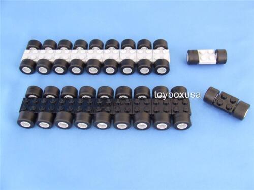 100 Pieces 20 Sets of Lego City Car Truck Tires Rims Axles Set * New