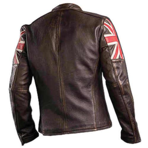 Brown Union Jacket Mens Racer Jack Leather Vintage Biker Distressed Cafe tqWwvIT4