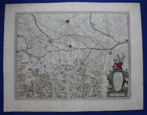 Antique-atlas-map-ITALY-PAVIA-MILAN-PIACENZA-CREMONA-J-Blaeu-c-1650