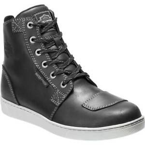 Harley Davidson Steinman Waterproof Riding Sneakers in Black Leather
