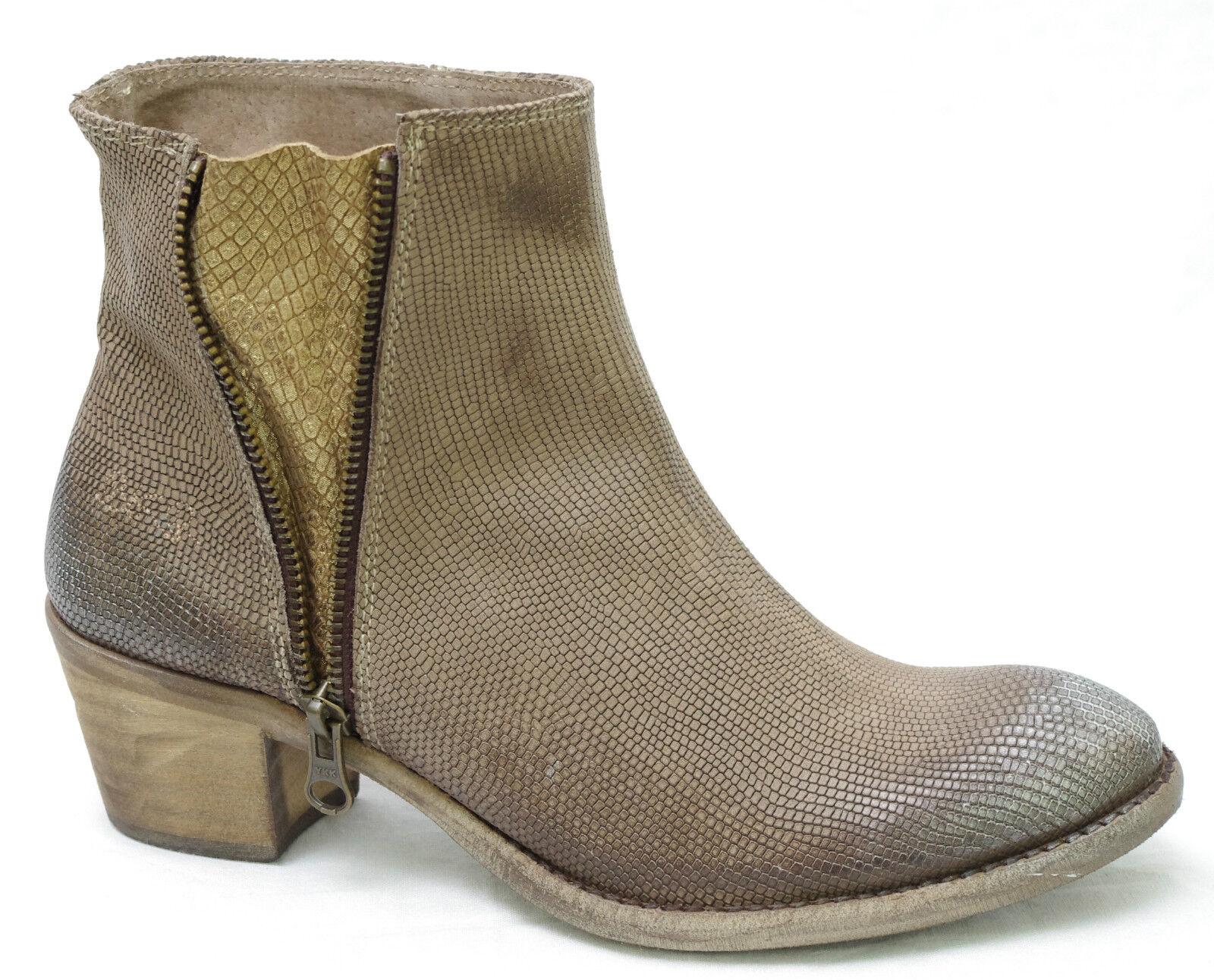 Scarpe  di Bunker stivali di caviglia pelle beige scuro donna tabacco geko  incentivi promozionali