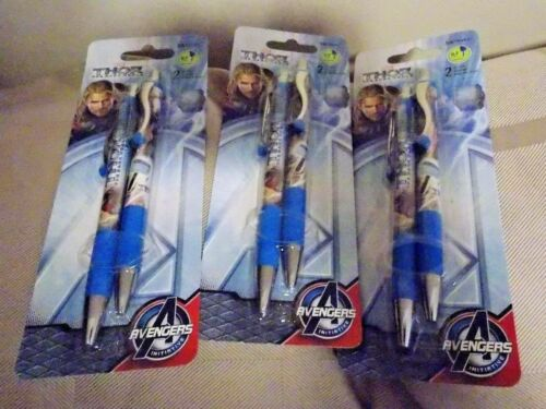 3 Thor the The Dark World Gel Pens 2 pc.0.7mm Black Retractable Free Shipping