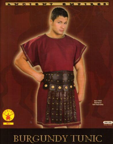 GREEK or ROMAN SOLDIER Warrior Legionaire Centurion Men/'s Burgundy TUNIC O//S New