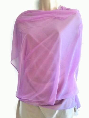 Sparkly Chiffon Style Scarf Head Wrap Evening Shawl Pale Lilac Super Soft