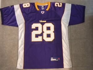 best website 63820 67cdb Details about Authentic Minnesota Vikings Adrian Peterson Reebok Jersey  Sewn Men size 54 NWOT