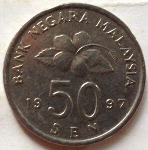 Second Series 50 sen coin 1997