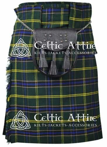 Scottish 8 Yard TARTAN KILT Clan Tartan Matching Kilt Sporran Available in 40