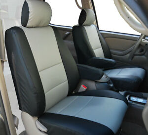 Peachy Toyota Tundra 2000 2003 Black Grey S Leather 2 Front Seat Uwap Interior Chair Design Uwaporg