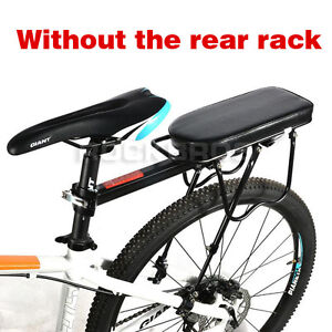 Cycling Bike Bicycle MTB Soft Cushion Rear Rack Seat Black Adults Child