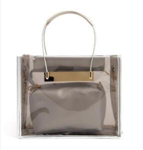 Smoky-Transparent-Handbag-Tote-Shoulder-Bags-Beach-Bag-Jelly-PVC-Fashion-Bag