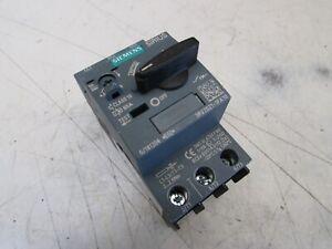 SIEMENS 3RV2011-1CA10 SIRIUS MANUAL MOTOR STARTER 600V 2.5FLA MAX NICE USED M//O!