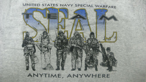 YOUTH T-SHIRT GREY SEAL TEAM X-SMALL U.S NAVY SPECIAL WARFARE NEW WITH TAGS