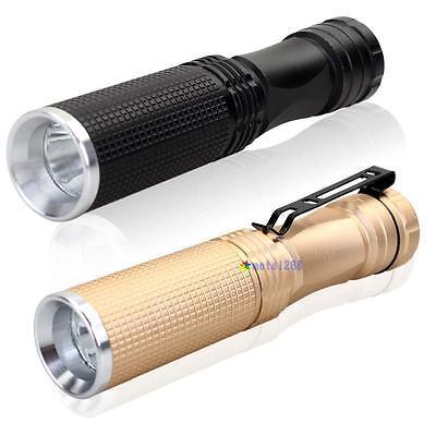 7W CREE XPE-Q5 LED 14500 AA Mini Flashlight Pocket Torch Lamp Light MT
